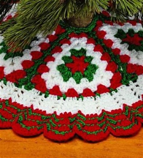 ravelry christmas crochet tree skirt pattern by country