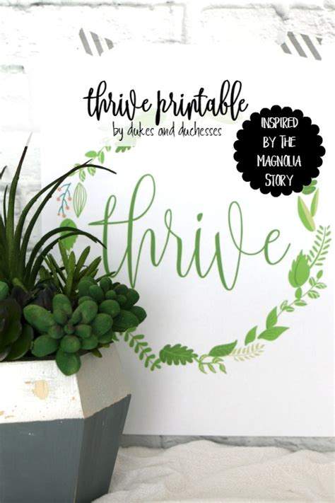 magnolia story thrive printable inspired by the magnolia story dukes