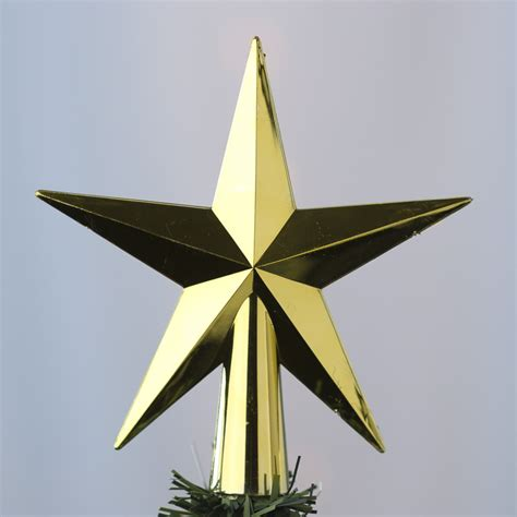 gold metallic star tree topper christmas and winter sale