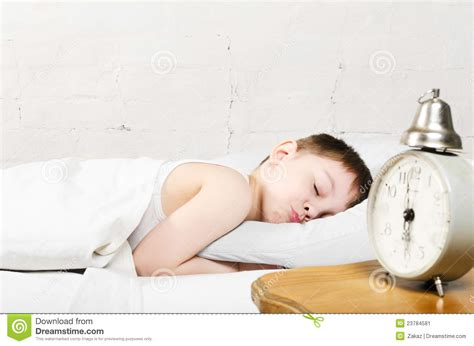 boy sleeping in bed stock image image 23784581