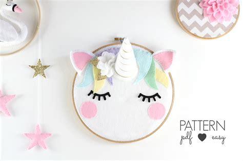 unicorn craft pattern unicorn nursery art pattern pdf unicorn sewing pattern