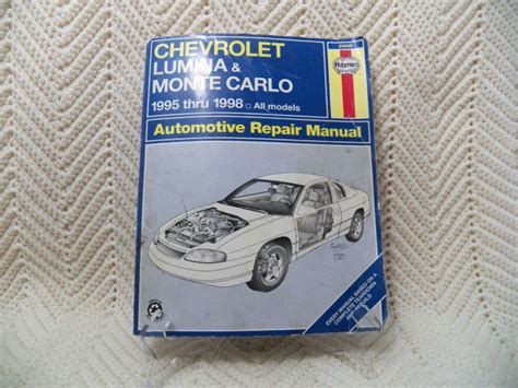 find chevrolet lumina monte carlo 1995 1998 haynes automotive repair manual motorcycle in