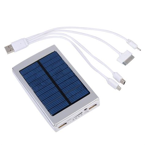 Power Bank Solar 60000mah buy 7500mah solar charger solar power bank for mobile phone bazaargadgets
