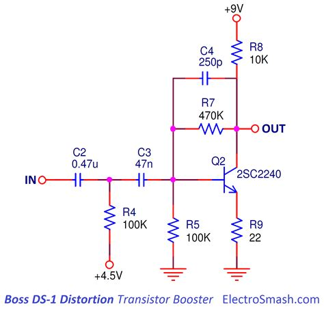 transistor boost pedal schematic wiring diagrams wiring