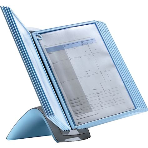 desk flip chart organizer a4 blue viewer desktop displayer