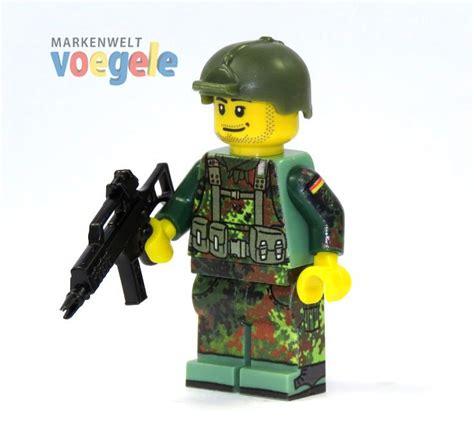 Lego Aufkleber Selbst Drucken by Custom Figur Bundeswehr Soldat Mit Custom Waffe Aus Lego