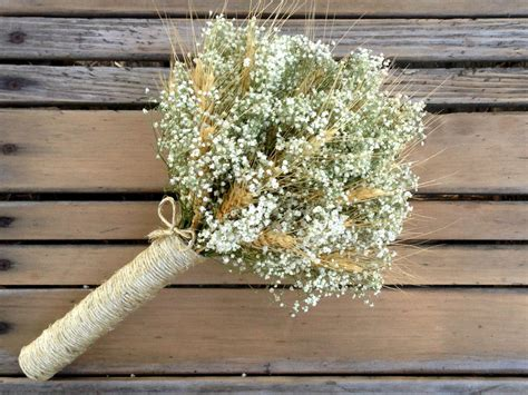 babys breath bouquet how to wrap your own bouquet simple summer wheat baby s breath bouquet small bridal