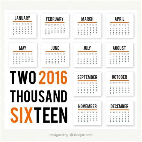 Calendario Moderno Calendario De 2016 Moderno Descargar Vectores Premium