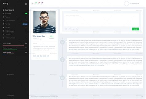 bootstrap templates for user profile wody web app bootstrap admin template by ra themes