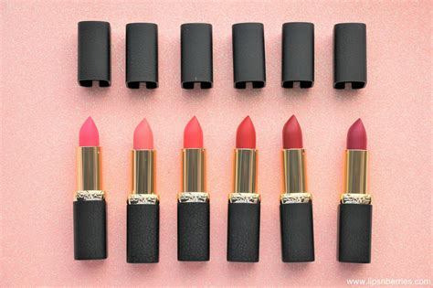 L Oreal Color Riche Matte l oreal color riche matte addiction lipsticks review