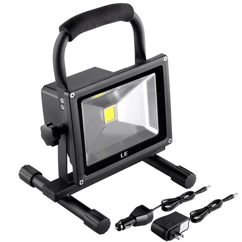 how led lights work outdoor 20w rechargeable led work light adapter car