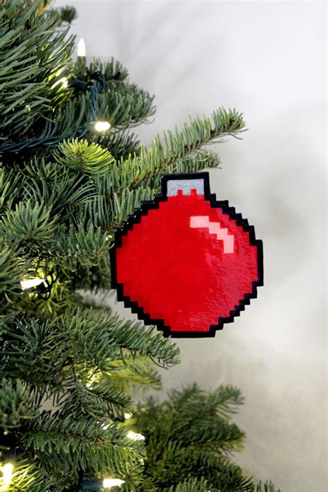 we made some diy 8 bit holiday ornaments our nerd home
