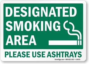 Punny Color Name smoking permitted designated smoking area please use