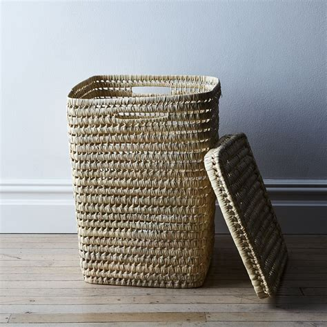 Woven Moroccan Laundry Basket With Lid On Food52 Woven Laundry With Lid