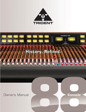 trident 88 console – trident audio developments