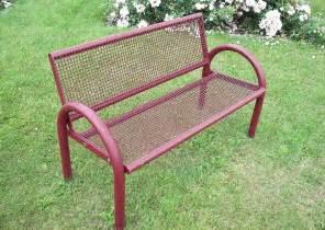 4 Sessel by Gartenbank Aus Metall Im Rosengarten