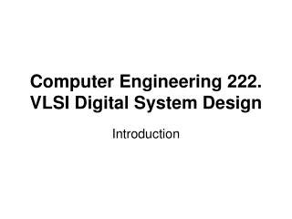analysis and design of vlsi analog digital interface integrated circuits ppt vlsi digital system design powerpoint presentation id 7077056