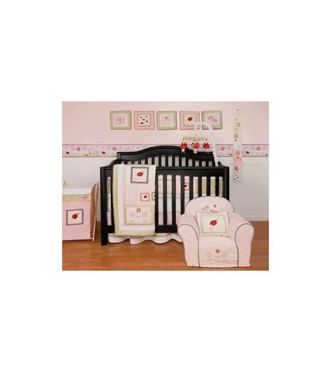 ladybug crib bedding sets kidsline bug 6 crib bedding set
