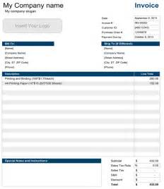 Excel Spreadsheet Invoice Template 15 Free Invoice Templates For All Types Of Businesses