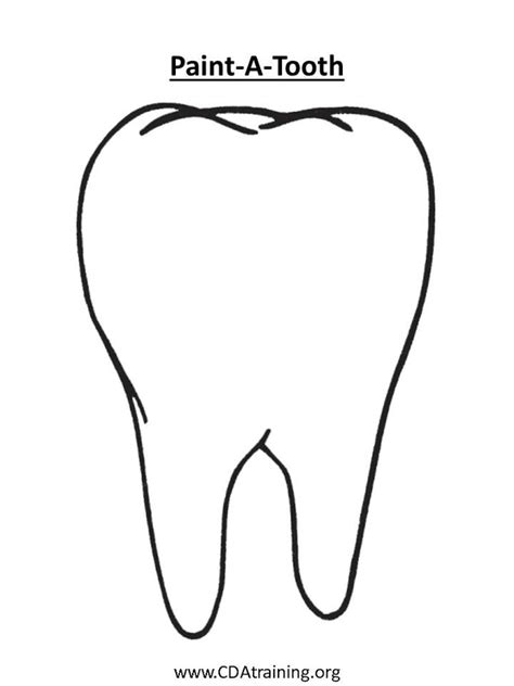 template of a tooth 123 play and learn child care basics resources dental