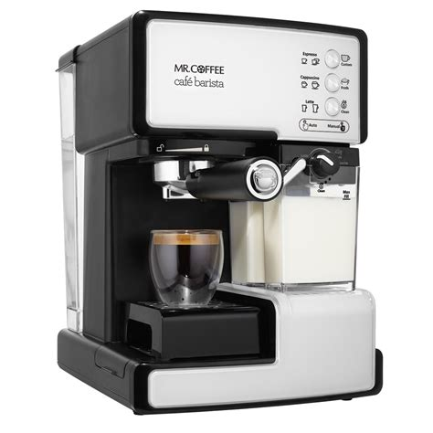espresso maker mr coffee caf 233 barista pump espresso maker at mrcoffee com