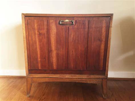 record album storage cabinet mid century drop front walnut record storage cabinet by