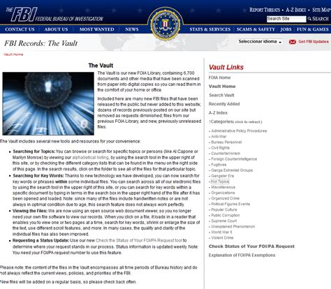 fbi electronic reading room s 243 lo para sus ojos security work