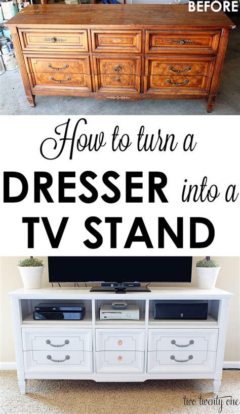 turn  dresser   tv stand diy  twenty