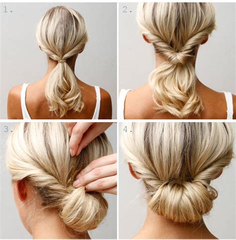 Easy Hairstyle How Tos | 187 how to easy chignon hair style