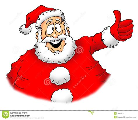 thumbs up santa stock illustration image of santa smile