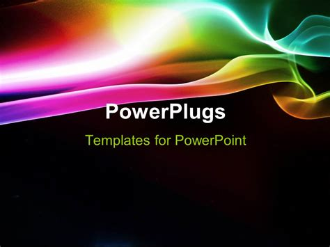 Powerpoint Template Elegant Puff Of Rainbow Smoke With Black Color 24489 Rainbow Powerpoint Template