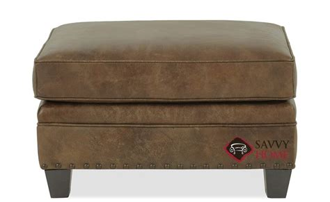 bernhardt ottoman leather quick ship barclay by bernhardt leather ottoman in by