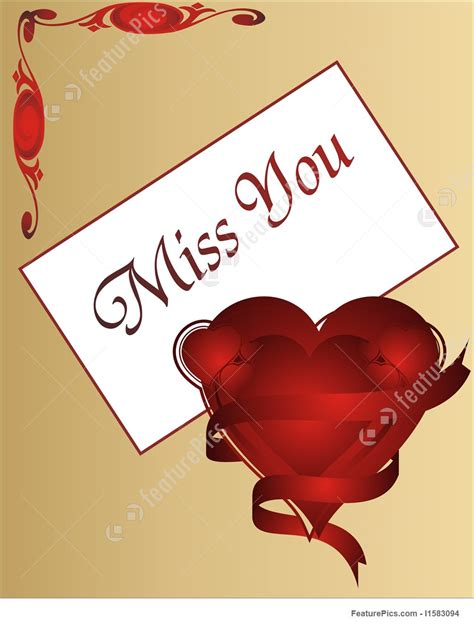 missing you on s day miss you valentines day card illustration