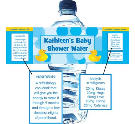 Mineral Water Label Template by Water Bottle