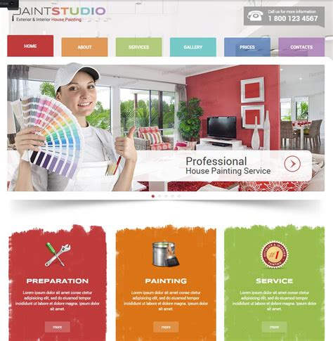 contractors website templates builders websites design