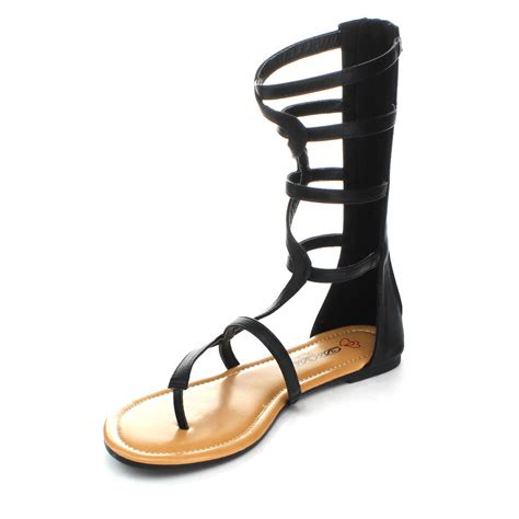 calf gladiator sandals dbdk emily gladiator crisscross cut out strappy mid