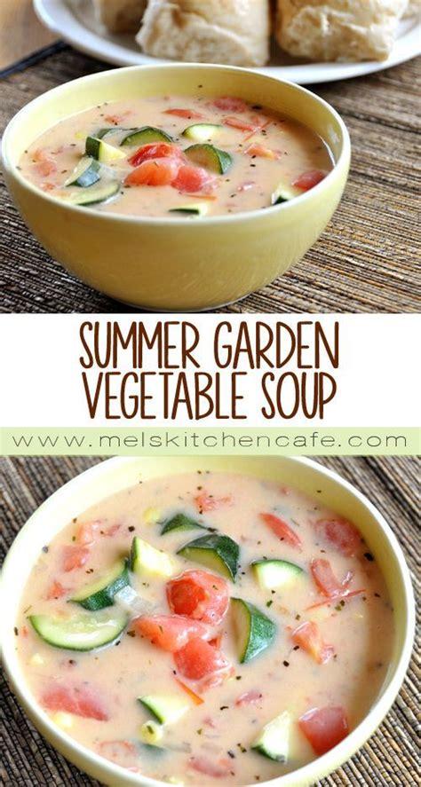 Garden Vegetable Soup by Summer Garden Vegetable Soup Recipe Gardens Garden
