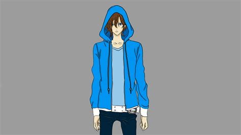 Anime Hoodie by Anime In Blue Hoodie By Rudi395 On Deviantart