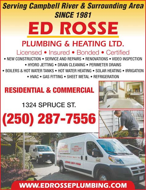 Three Rivers Plumbing by Rosse Ed Plumbing Ltd Cbell River Bc 1324 Spruce