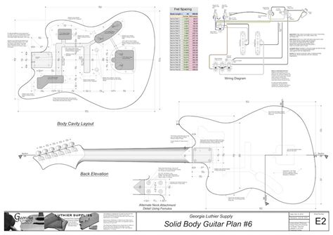 electric guitar woodworking plans