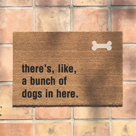theres like a bunch of dogs in here mat quot bunch of dogs in here quot doormat doormat and awesome dogs