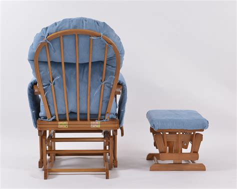 soft blue plush glider rocker slipcover replacement covers habebe glider chair stool oak wood blue washable