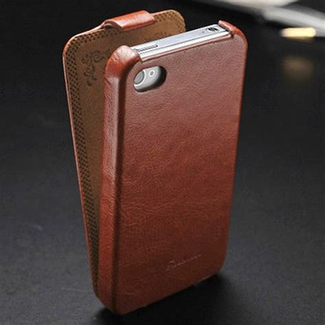 Flipshell Iphone 4gs vintage pu leather flip for iphone 4 4s 4g phone bag for iphone4 original fashion logo in