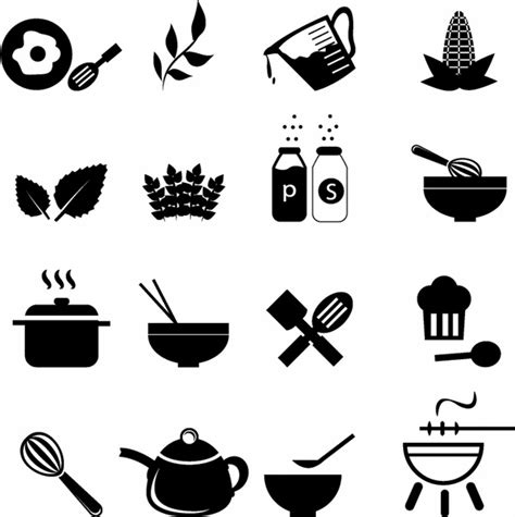 Home Bakery Kitchen Design by Cooking Icons Free Vector In Adobe Illustrator Ai Ai