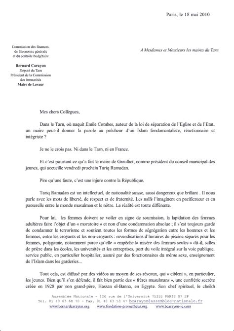 Mod Le De Lettre Non Formelle lettre officielle en francais exemple lettre motivation
