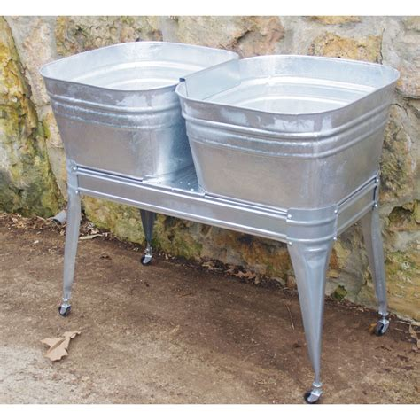 double laundry tub square wash tub with stand single or double wisemen