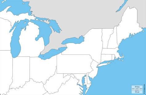 map usa fill in states east usa free map free blank map free outline map