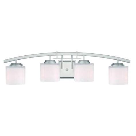 bathroom vanity lights home depot hton bay architecture 4 light brushed nickel vanity