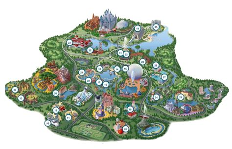 printable maps of disney world wasting nothing doing disney with food allergies