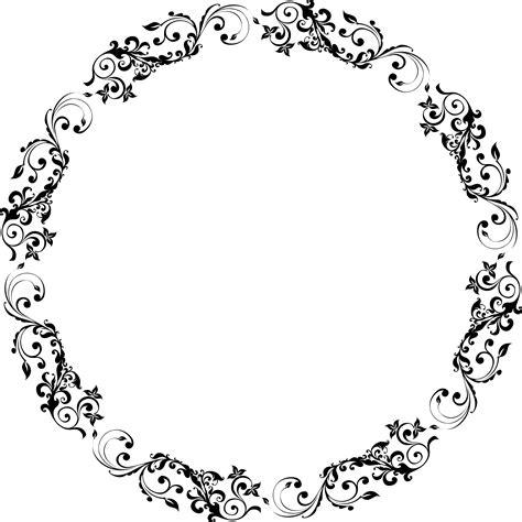 Flourish Frame Outline by Clipart Flourish Circle
